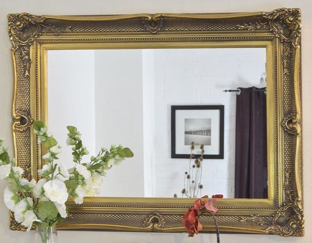 ed32d38107d3f X Large Black Decorative Ornate Mirror - Other Frame Colours Available